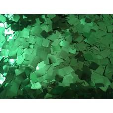 Конфетти квадратики зеленый металлик (5-8мм) 50гр