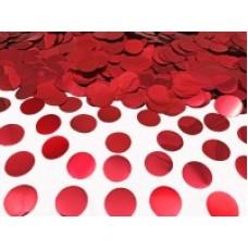 Конфетті кружечки червоні металік (23мм) 50гр