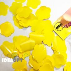 Конфетті квіточки жовті 50гр