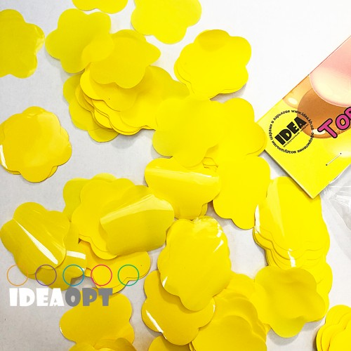 Конфетти цветочки желтые 50гр