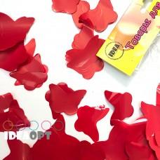 Конфетти бабочки красные 50гр