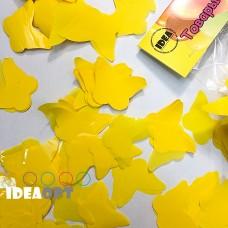 Конфетти бабочки желтые 50гр