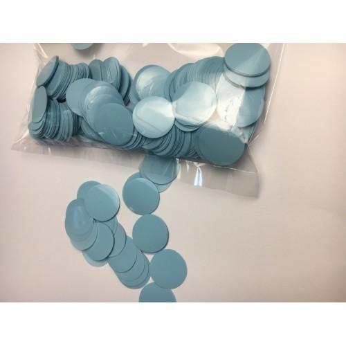Конфетти кружочки светло голубые (23мм) 50гр