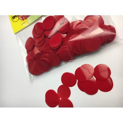 Конфетти кружочки красные (23мм) 50гр