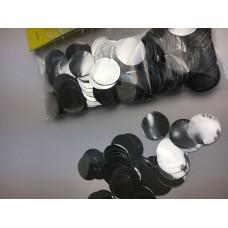 Конфетті кружечки срібні (23мм) 50гр