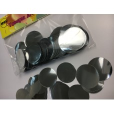 Конфетті кружечки срібні (35мм) 50гр