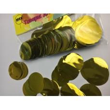Конфетті кружечки золоті (35мм) 50гр