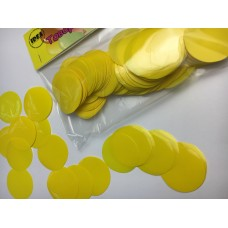 Конфетті кружечки жовті (35мм) 50гр
