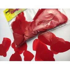Конфетті сердечка червоні великі 50гр