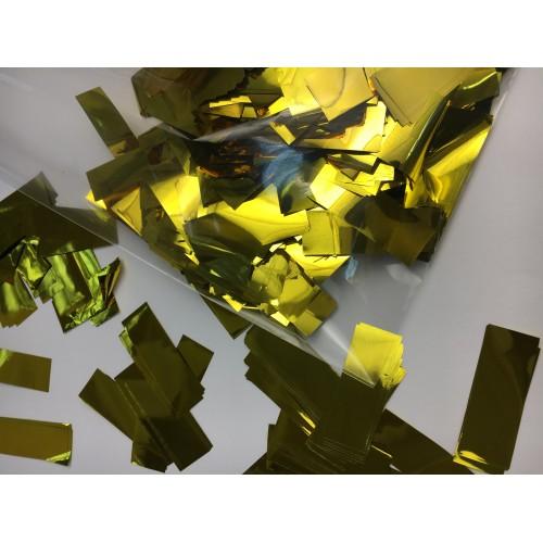 Конфетти полоски золотые 100гр