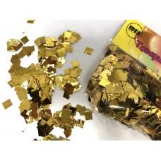 Конфетти квадратики золотые (5-8мм) 50гр