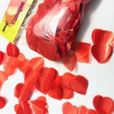 Конфетті сердечка червоні маленькі 50гр (2,5 см)