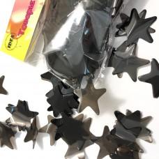 Конфетті зірочки чорні 50гр