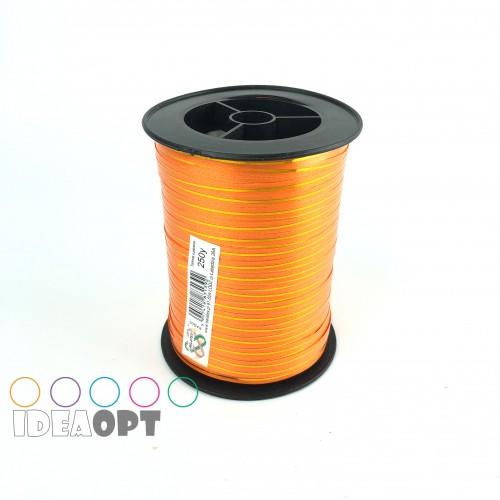 Лента для шариков (230м) оранжевая с золотой полосой (Польша)