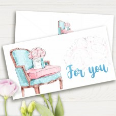 Конверт подарочный For you кресло (5шт)