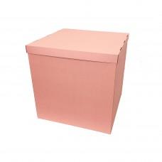Коробка для куль + кришка Rose Tan матовий-пудровий 70х70х70см (1шт)