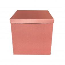Коробка для куль + кришка рожеве-золото МЕТАЛІК! 70х70х70 (1шт)