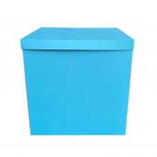 Коробка для шаров + крышка небесно голубая 70х70х70 (1 шт)
