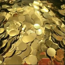 Конфетти кружочки золотые МИНИ (1,2см) 50гр