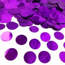Конфетти кружочки фиолетовые металлик МИНИ (1,2см) 50гр