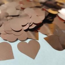 Конфетти сердечки розовое золото МИНИ (1,5см) 50гр