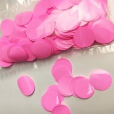 Конфетти кружочки розовые МИНИ (1,2см) 50гр