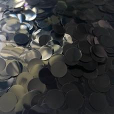 Конфетти кружочки черные МИНИ (1,2см) 50гр