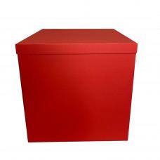 Коробка для шаров + крышка красная 70х70х70 (1шт)