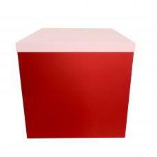 Коробка для шаров БЕЗ крышки Красная (1шт) 70х70х70