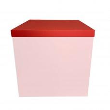 Крышка на коробку для шаров красная (1шт) 70х70см