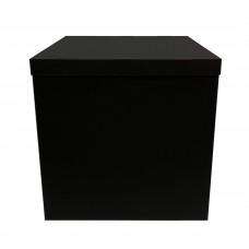 Коробка для шаров + крышка черная (super black) 70х70х70 (1шт)