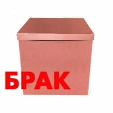 БРАК Коробка для шаров Розовое золото 70х70х70см (1шт)