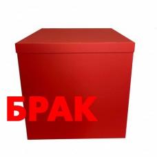 БРАК Коробка для шаров Красная 70х70х70см (1шт)