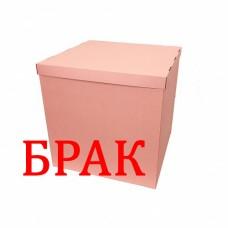 БРАК !!! Коробка для шаров розовая 70х70х70 (1 шт)