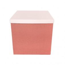 Коробка для куль БЕЗ кришки рожеве золото МЕТАЛІК (1шт) 70х70х70