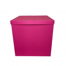 Коробка для шаров + крышка фуксия яркая 70х70х70см (1шт)
