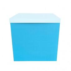 Коробка для шаров БЕЗ крышки небесно голубая (1шт) 70х70х70