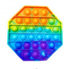 Pop it (поп ит) восьмиугольник радуга 12см