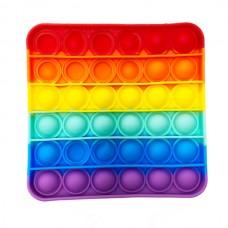 Pop it (поп ит) квадрат радуга 12см