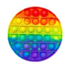 Pop it (поп ит) круг радуга 12см