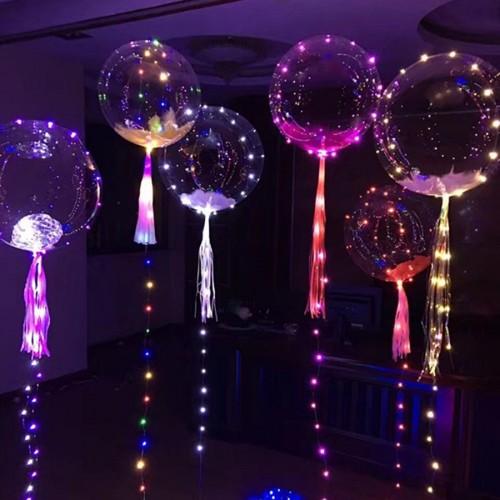"""Шар bubble / бабл 18"""" (45см) с led лентой"""