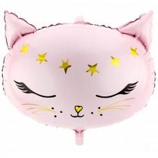 Розовая кошечка со звездами 48*36 см (Польша БФ)