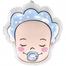 Фольгированная фигура младенец мальчик 40*45 см (БФ Польша)