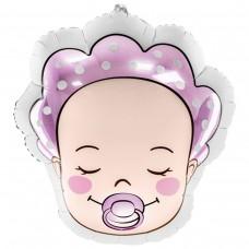 Фольгированная фигура младенец девочка 40*45 см (БФ Польша)