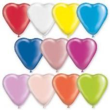 """G 10"""" (25см) Сердца пастель ассорти (100шт)"""