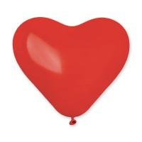 """G 10"""" (25см) Сердца красные пастель 045 (100шт)"""