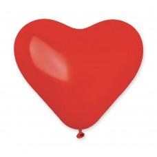 """G 10"""" (25см) Сердца красные кристал 042 (100шт)"""