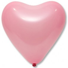 """12"""" (30см) Серце рожеве (50шт) Everts"""