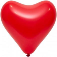 """12"""" (30см) Серце червоне apple red (50шт) Everts"""