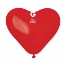 """G 16"""" (40см) Сердца красные пастель 45 (50шт)"""